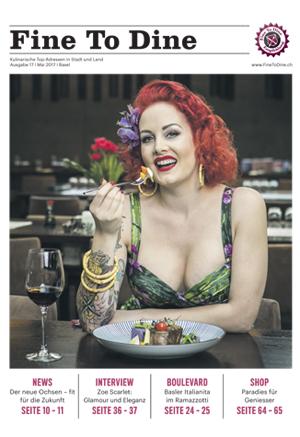 Aktuelle Ausgabe Fine To Dine-Magazin
